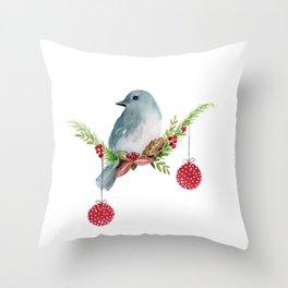 Christmas Bird - Winterland Throw Pillow