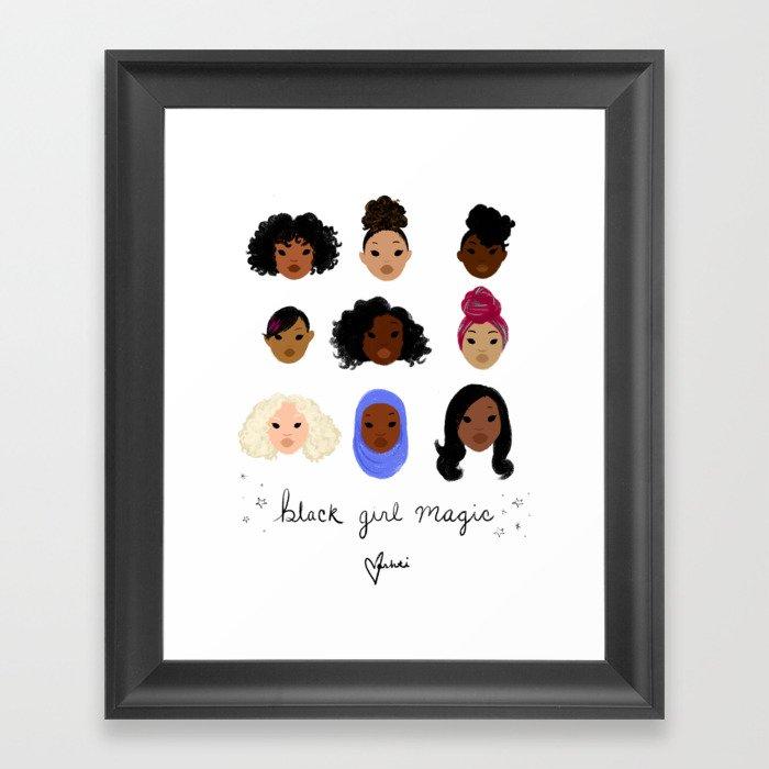 Black Girl Magic (looks) Gerahmter Kunstdruck
