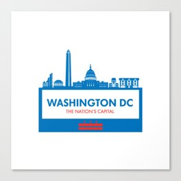 Washington DC Illustration Canvas Print