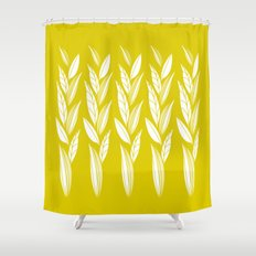 Growing Leaves: Golden Yellow  Shower Curtain