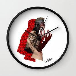 Finn Balor Over Wall Clock