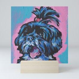 Fun Shih Tzu Dog bright colorful Pop Art Mini Art Print