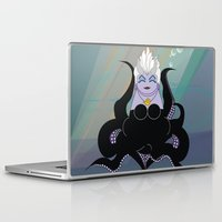 ursula Laptop & iPad Skins featuring Kokeshi Sea witch by Pendientera