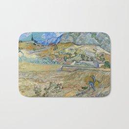 Vincent Van Gogh - Enclosed Field with Peasant Bath Mat