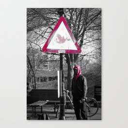 Red Way Canvas Print