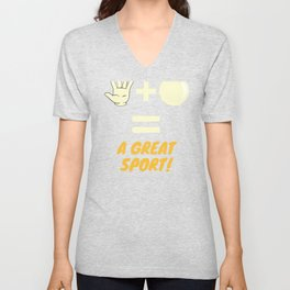Handball, A Great Sport Unisex V-Neck