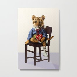 Tiny Tiger Valentine Metal Print