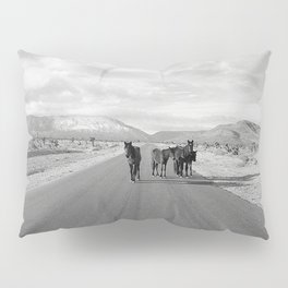Spring Mountain Wild Horses Pillow Sham