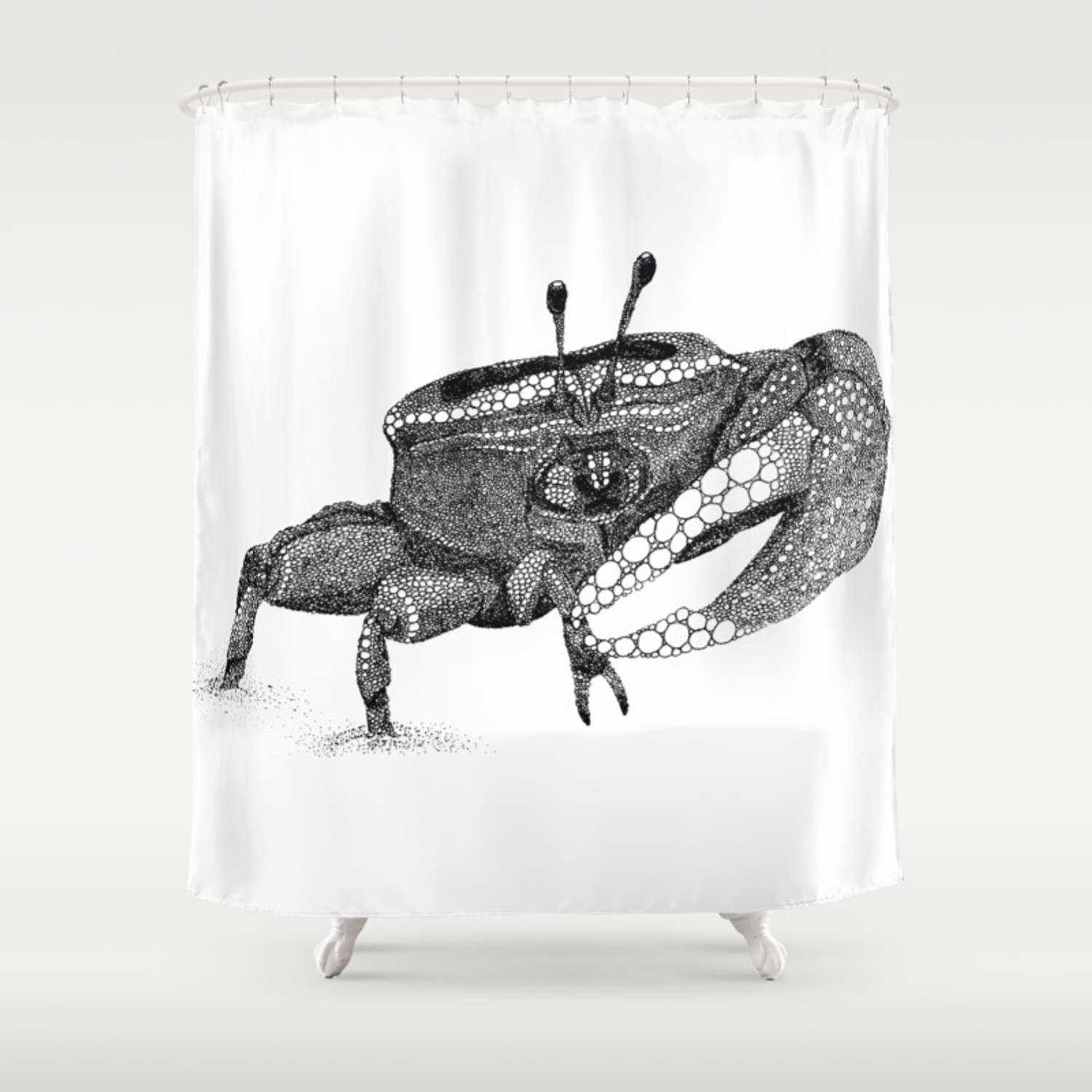 The Fiddler Crab Shower Curtain By Naturalink Society6