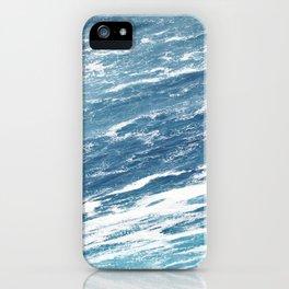 Ocean Water Waves Foam Texture iPhone Case