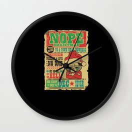 Grumpy Christmas nope Christmas Wall Clock