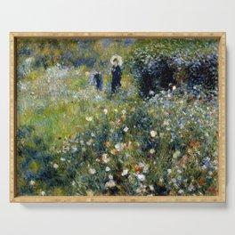 """Auguste Renoir """"Femme avec parasol dans un jardin"""" Serving Tray"""