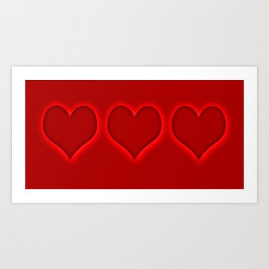 Love hearts 2 Art Print