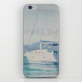 White Boats iPhone Skin