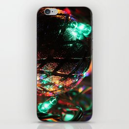 Silver Christmas Balls and Lights iPhone Skin