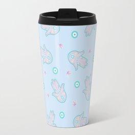 Blue Hamsa Toss Travel Mug
