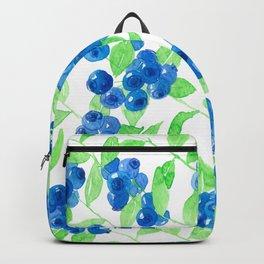 Bluberries watercolor pattern Backpack