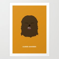 Star Wars Minimalism - Chewbacca Art Print