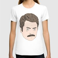 swanson T-shirts featuring Ron Swanson by Chase Kunz