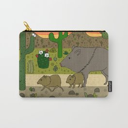 Javelinas in The Sonoran desert Carry-All Pouch