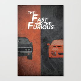 The Fast and the Furious Movie Poster Version I Canvas Print