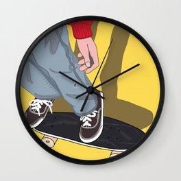 Penny Board Wall Clock