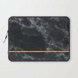BLACK MARBLE GOLD STRIPE Laptop Sleeve