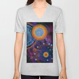 MOON AND PLANETS Unisex V-Neck