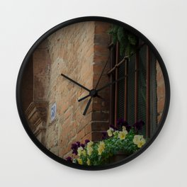 Christmas Window Ferrara Italy Wall Clock