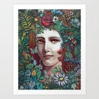 flora Art Prints featuring Flora by Alvaro Arteaga
