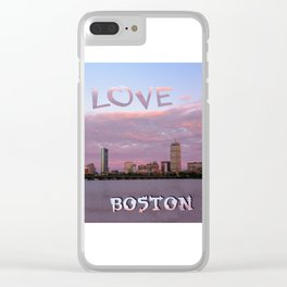 Love Boston Clear iPhone Case