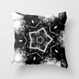 Black Star, White Light Throw Pillow