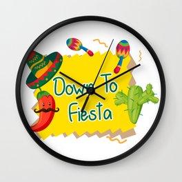 Down To Fiesta Cinco De Mayo Wall Clock
