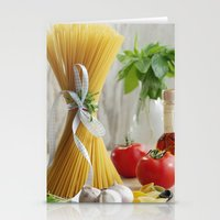 pasta Stationery Cards featuring delicious pasta by Tanja Riedel