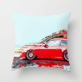 The Red Porsche Throw Pillow