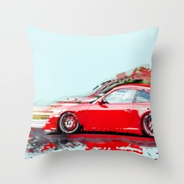 The Red Porsche Throw Pillow