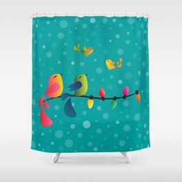 Fly High, My Babies - Merry Christmas Shower Curtain