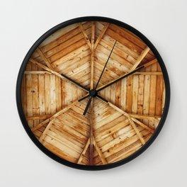 Wood Ceiling Mandala (Color) Wall Clock