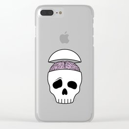 Brainy Skull Clear iPhone Case