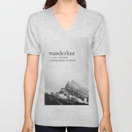 Wanderlust Unisex V-Neck