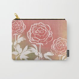 Three Peonies Carry-All Pouch