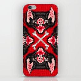 Vampire Bat Face Geometric Pattern iPhone Skin
