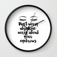 Beauty Room Decor,Eyebrows on Fleek, Makeup Printable, Beauty Printable,Eyelash Print, Makeup Wall Clock
