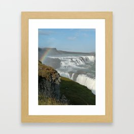 Gullfoss Framed Art Print