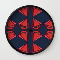 ruby Wall Clocks featuring Ruby by Tess Ellis