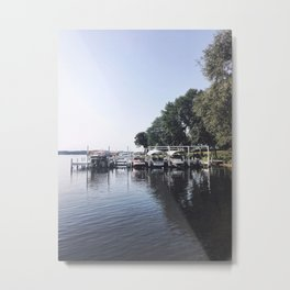 We've Got Lots of Boats Here, Wisconsin Lake Metal Print