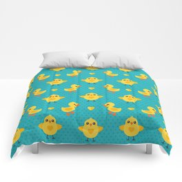 CHICKS AND DUCKLINGS Comforters