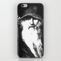 mythology iPhone & iPod Skins featuring  Scandinavian Mythology the Ancient God Odin by taiche