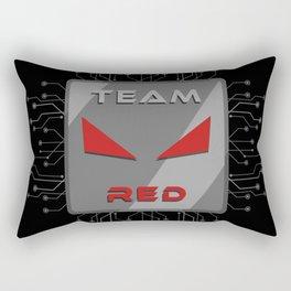 Team Red Rectangular Pillow