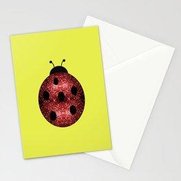 Beautiful Sparkling red sparkles Ladybird Ladybug Stationery Cards